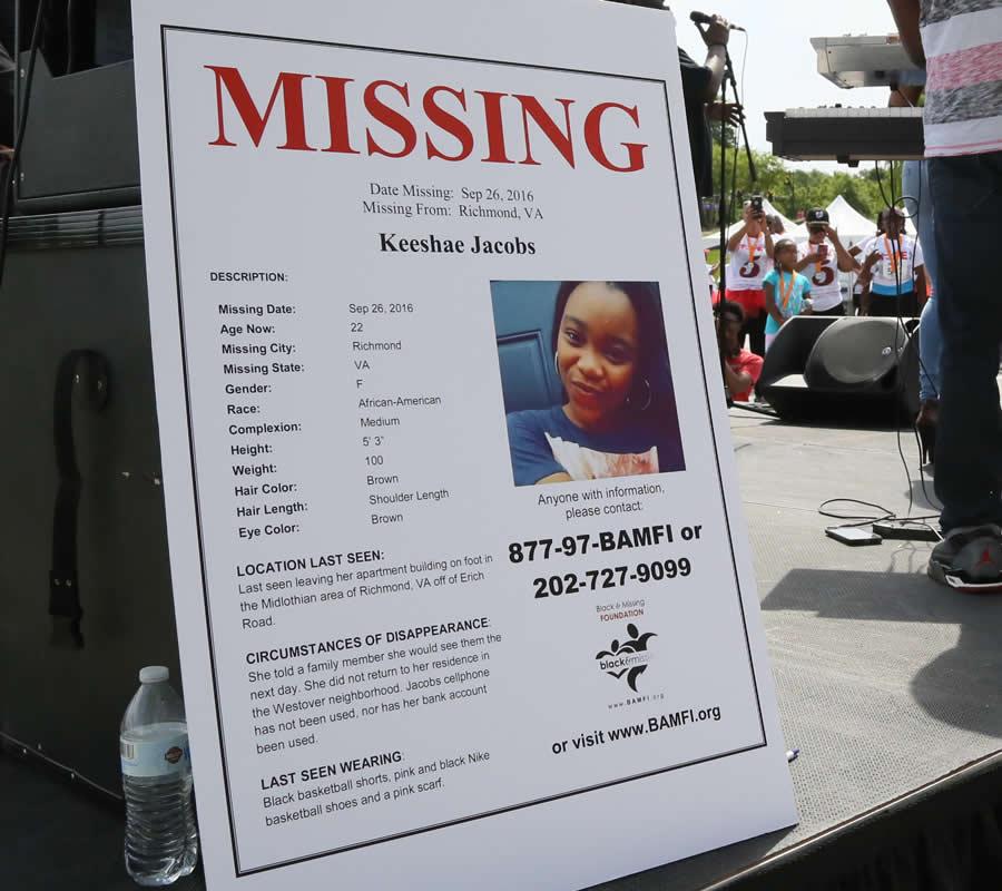 Missing: Keeshae Jacobs, Richmond VA